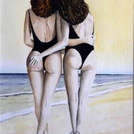 Twee zusjes aan zee (verkocht)