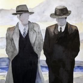 Mannen met hoed