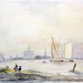 Gezicht op Haarlem (1845)