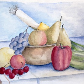 Keuken schilderijtje
