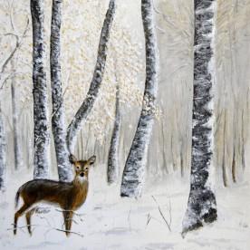 ree in de sneeuw