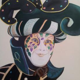 Mannen masker Venetië 70h x 90b