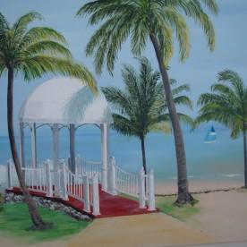 Paviljoen aan zee (Cuba) 60x50
