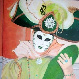 Carnavals masker Venetië 70h x 90b