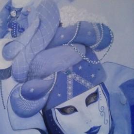 Carnavals masker Venetië 90h x70b
