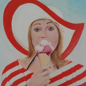 Meisje met het ijsje 60h x 60b