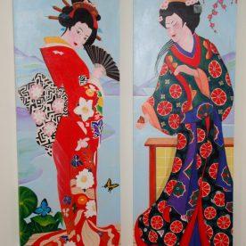 Geisha's 2x 150h x 50b